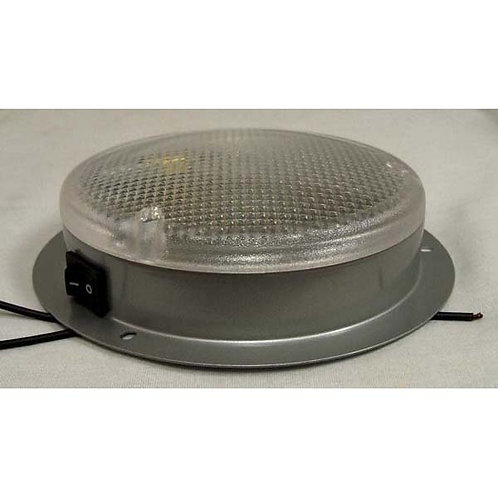 Interior Dome Light Aluminum W/ Switch