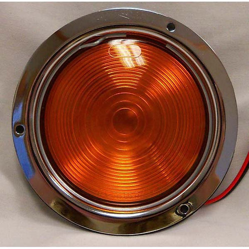 "T/S - 4"" Round Stainless Flange - Amber Incandescent"