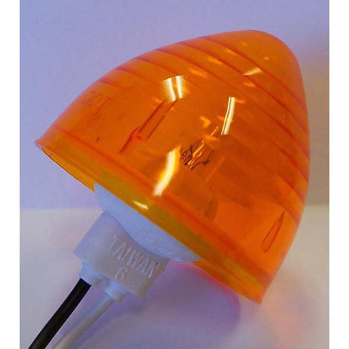 "2"" Amber Beehive Twist-In Clearance Marker"