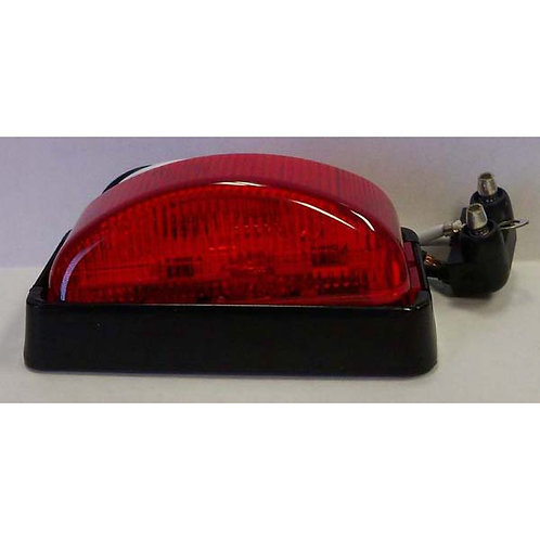 Red LED Clearance Marker Kit W/ Black Housing- 3 Led
