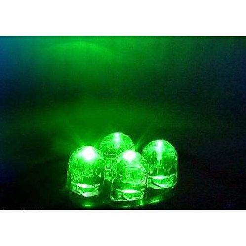 4 LED Green Cluster Pod Green W/ Chrome Housing