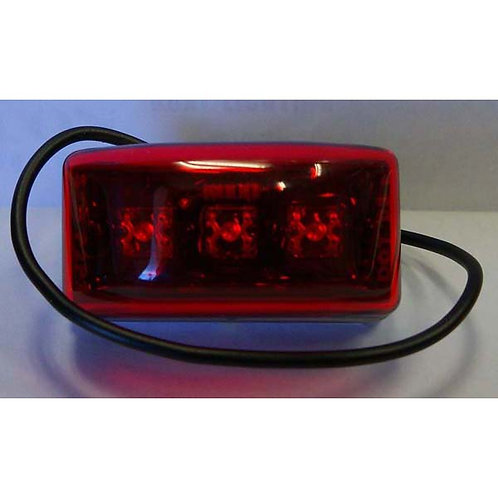 "2"" Mini Red Clearance Marker- 3 Led"