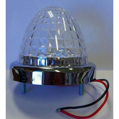 "3"" Red/Clear LED Beehive Diamond Marker Light"