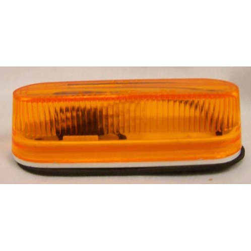 """Clearance Marker - 3.5"""" Oval - Amber Incandescent"""