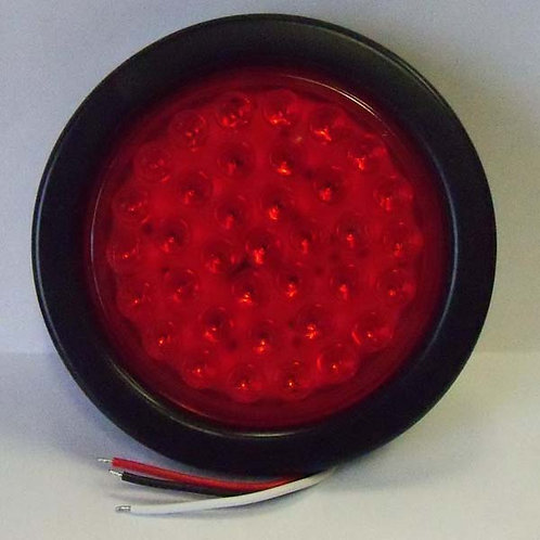 "Warning Light - 4"" Red Round Hard Wire Kit - 36 Led"