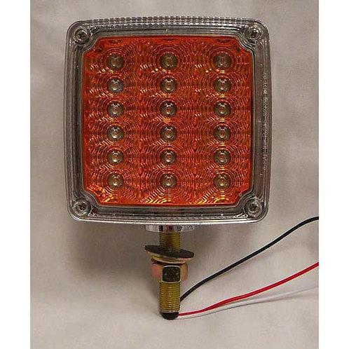 T/S - Vertical - Chrome Housing Reflex - 1 Stud - LH - 18 LED