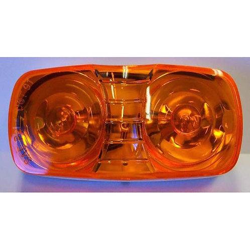 Amber Clearance Marker- 2 Bulb