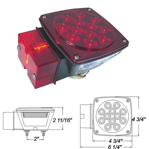 "Over 80"" Wide Submersible LED Combination Light"