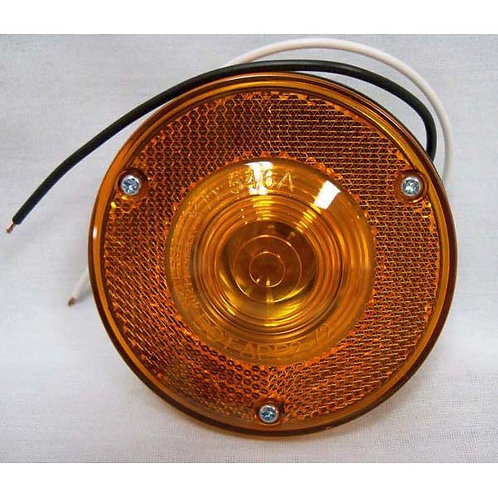 """Marker Light - 3.4"""" Round - Two Wire - Amber"""
