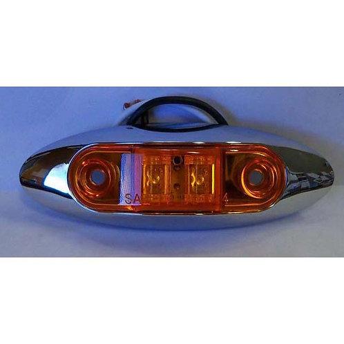 """4"""" Amber Clearance Marker/Running Light Kit- 2 Led"""