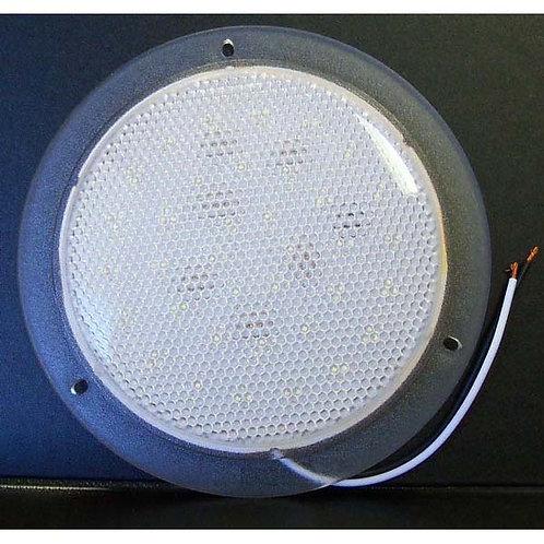 "Dome Light - 6"" Round - Clear - 24v 36 LED"