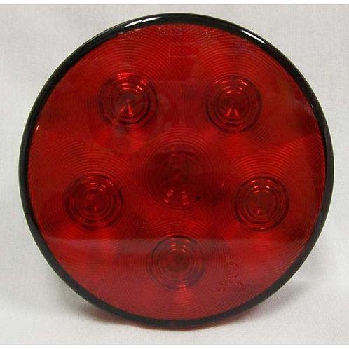 """S/T/T - 4"""" Round 24V - Red 6 LED"""