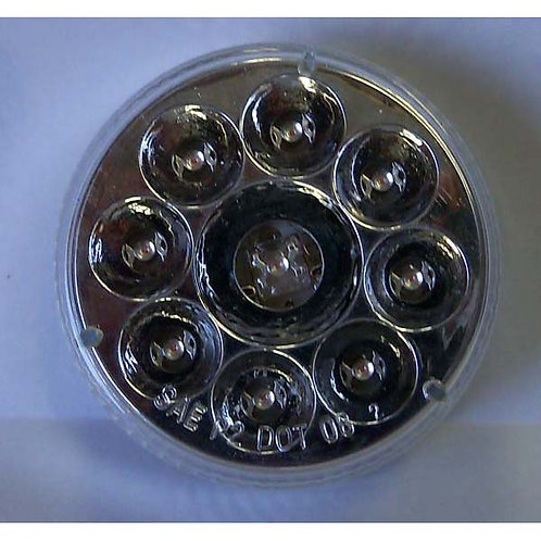 "2.5"" Red/Clear Lens Clearance Marker- 9 Led"