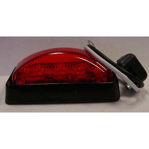 Red/Black Rectangular Clearance Marker Kit- 3 Led