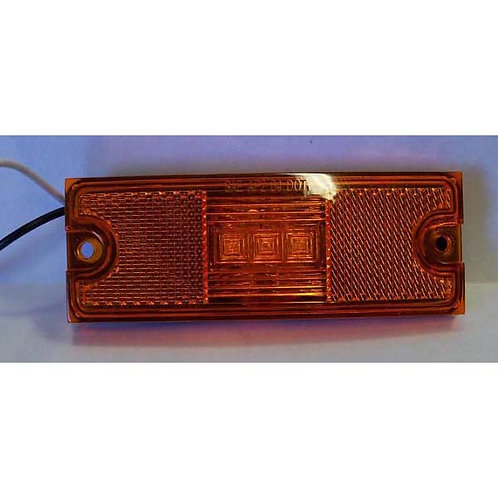 "4.5"" Amber LED Clearance Marker- 3 Led"