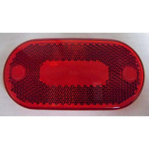 Lens - Red Reflective Oblong Snap-On - 559 Series