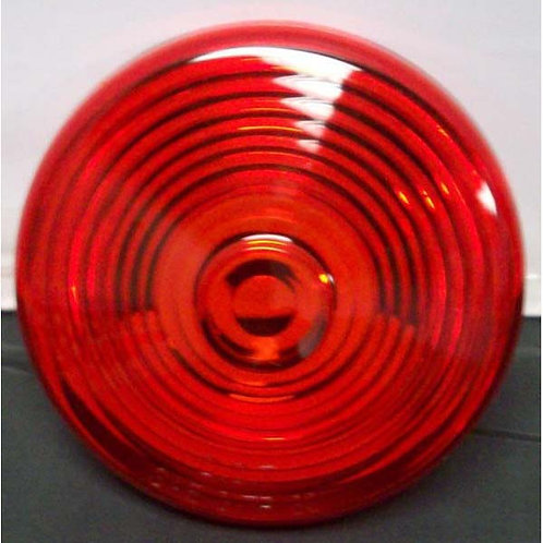 """Lens - 7"""" Red Polycarbonate - 845 Series"""