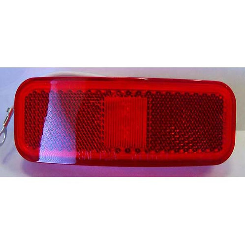 "4"" Red Clearance Marker W/ Reflex- 2 Led"