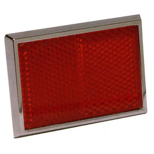 Red Reflector With Chrome Bezel
