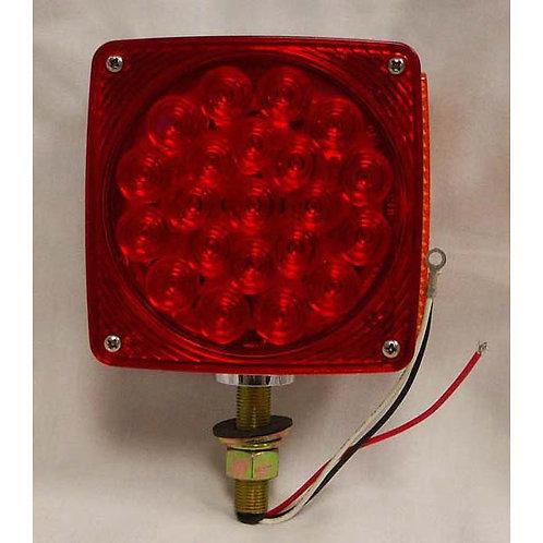 T/S - Vertical - Chrome Housing - Amber Red 1 Studs RH - 21 LED