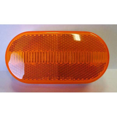 """4"""" Amber Oval Clearance Marker W/ Reflective Lens- 5 Led"""