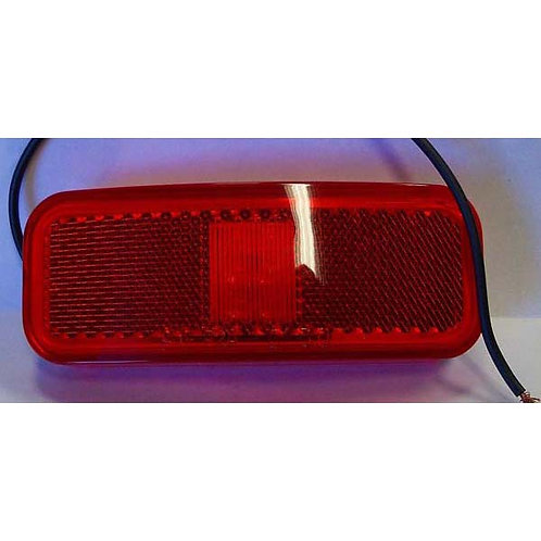 """3 3/4"""" Red Clearance Marker- Reflex Lens- 6 Led"""