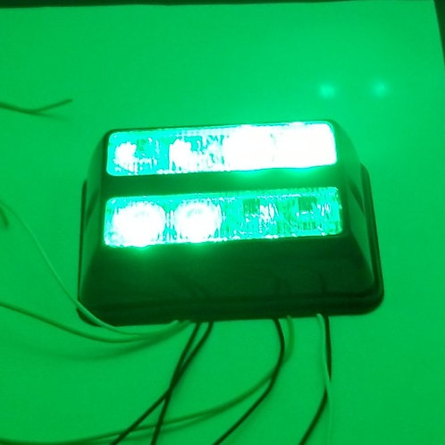 Green - Strobe - Warning Light - 8 Super Bright Led