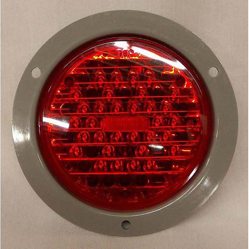 "S/T/T - 4"" Round Flange - Light Only - Red 34 LED"