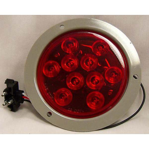 "Stop - Tail - Turn - 4"" Round - Red - LED - Kit w. Plug"