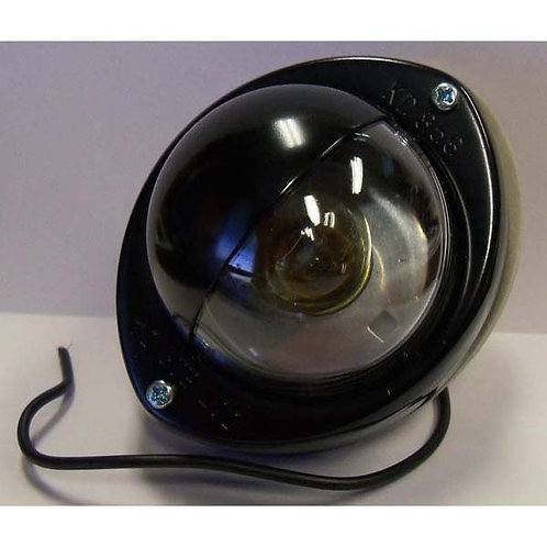 Black Powder coated -Step Light- with Shield- 1 wire