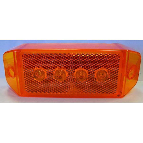 """Clearance Marker - 6"""" Reflective - Amber 4 LED"""