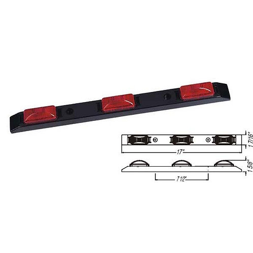 Red Tri-Id Light Bar- 24v