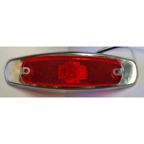 Red Reflective Clearance Marker W/ Stainless Steel Bezel