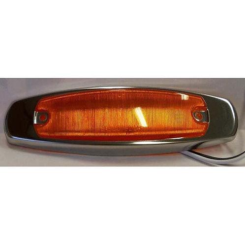 """4"""" Amber LED Clearance Marker Running Light Kit- 5 Led"""