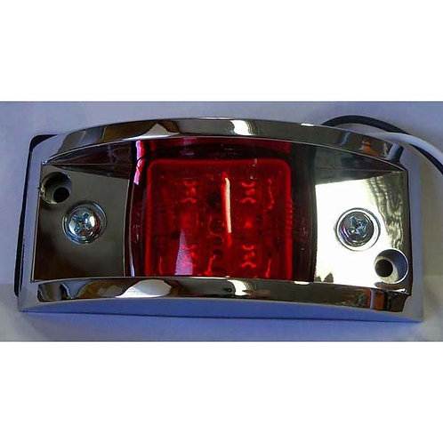 Red Narrow-Rail Clearance Marker- LED W/ Chrome Housing