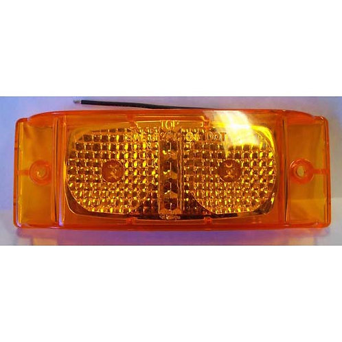 "Clearance Marker - Double Bullseye Reflective - 6"" Amber LED"