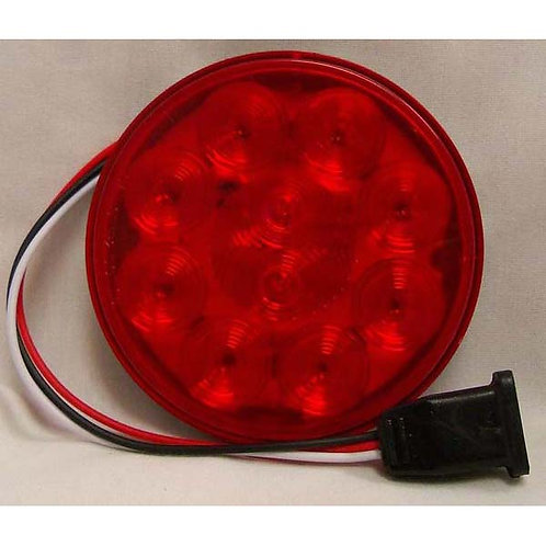 "S/T/T - 4"" Round Kit - Red 10 LED"
