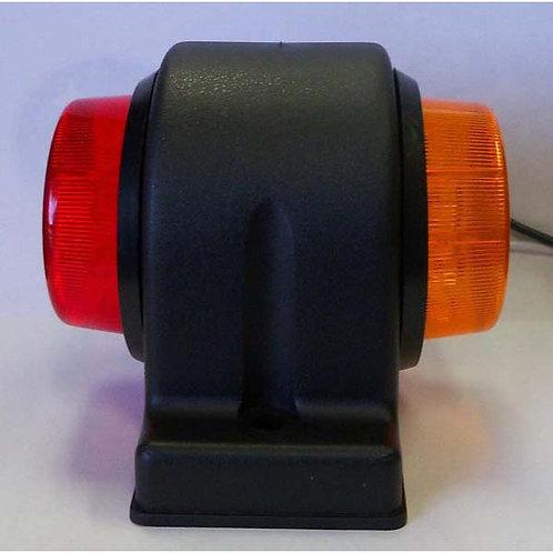 Amber/Red Fender Mount Clearance Marker Light Kit