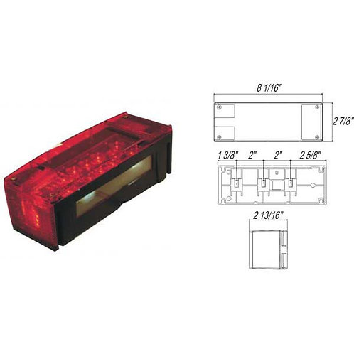 """Over 80"""" Wide Submersible LED Combination Light- 12 Led"""