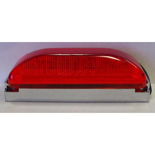 "4"" Red/Chrome Clearance Marker Kit- 10 Led"