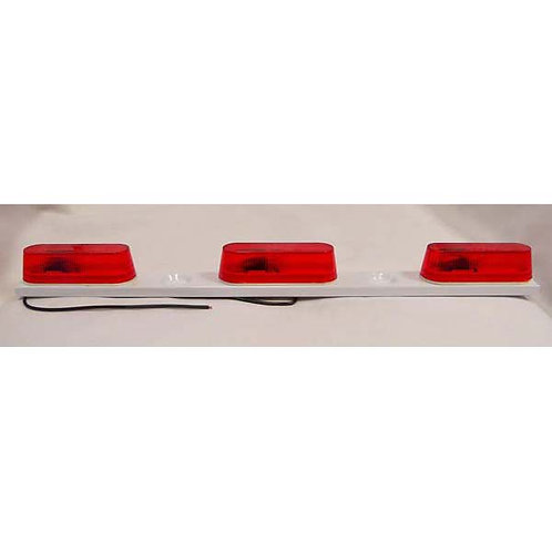 Red Id Light Bar- On White Steel