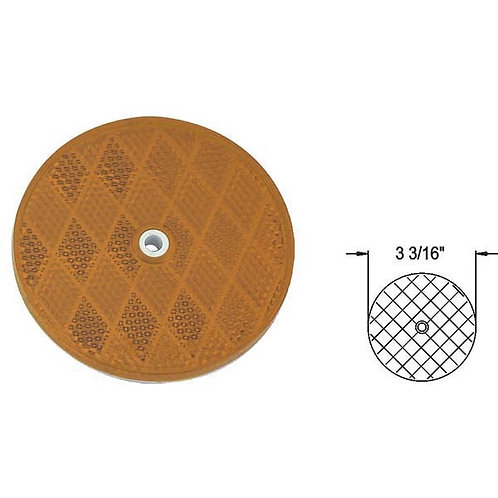 "3 3/16"" Round Reflector W/ Center Hole"