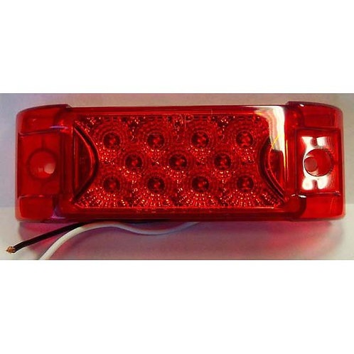 "Clearance Marker - 6"" Reflective - Red 13 LED"