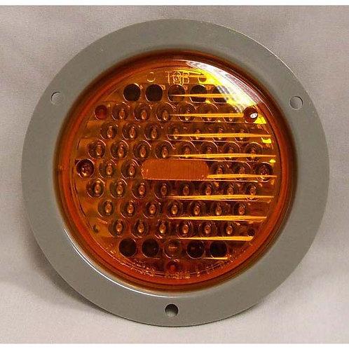 "T/S - 4"" Round Flange Kit - Amber 48 LED"