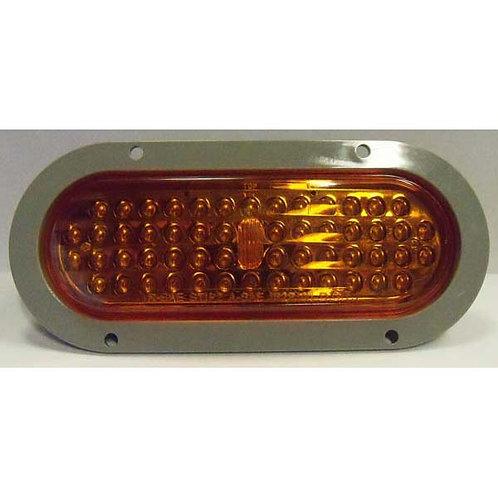 "T/S - 6"" Oval w. Flange - Amber 56 LED"