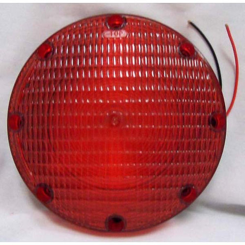 "7"" Red School Bus Stop/Turn Signal Light- Double Contact"