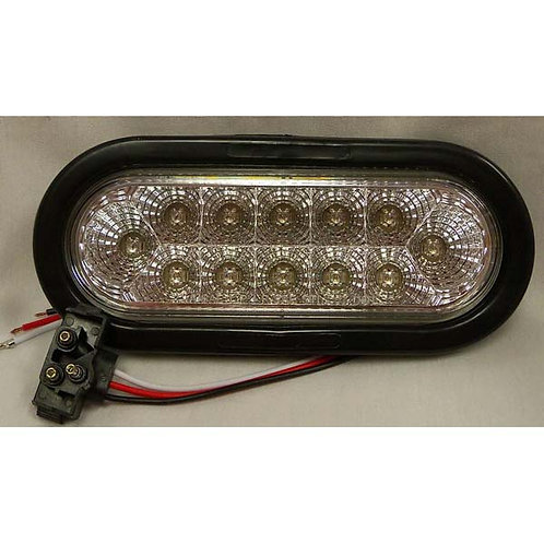 "S/T/T - 6"" Oval Kit - Red -12 LED"