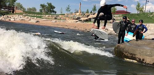 waveshaper, wave shaper, boise surfing, river surfing, adjustable river waves, river wave design, river wave building, mclaughlin whitewater design group, Ben Nielsen