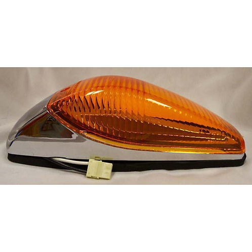 "Cab Marker - Chrome Long 12"" Wires - Amber Incandescent"