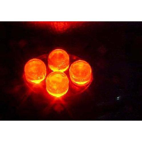 4 LED Red Cluster Pod W/ Chrome Housing